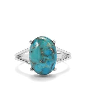 Bonita Blue Turquoise Ring in Sterling Silver 5.47cts