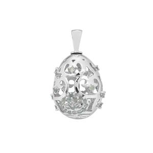 Alexandrite Moscow Egg Pendant in Sterling Silver 1.34cts