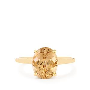 Champagne Danburite Ring in 10k Gold 2.65cts
