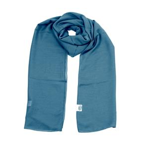 100% Recycled Polyester Solid Dyed Bright Blue Scarf