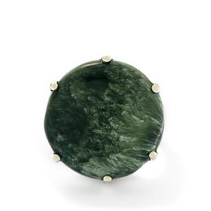 20ct Siberian Seraphinite Sterling Silver Tookalon Ring