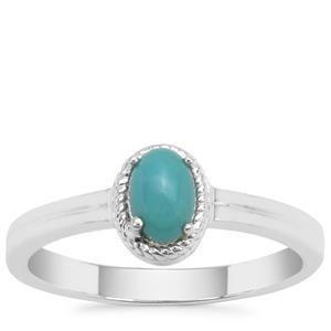Sleeping Beauty Turquoise Ring in Sterling Silver 0.53ct