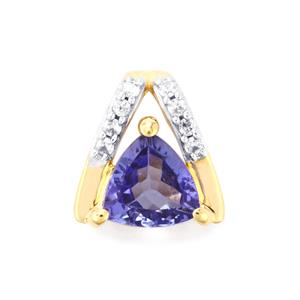 AA Tanzanite Pendant with White Zircon in 9K Gold 0.75cts