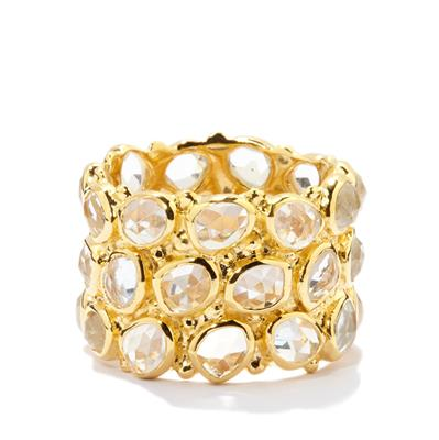 HONEYCOMB WHITE TOPAZ RING