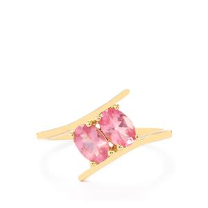 0.94ct Pink Spinel 9K Gold Ring