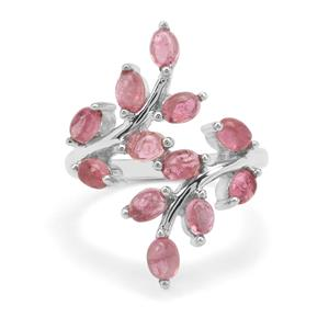 2.64ct Pink Tourmaline Sterling Silver Ring