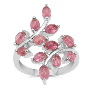 Pink Tourmaline Ring in Sterling Silver 2.64cts