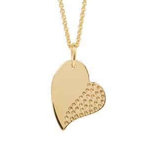 "18"" Midas Altro Diamond Cut Heart Pendant Necklace 5.23g"