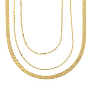 Gold Plated Sterling Silver Set of 3 Chains 6.67g