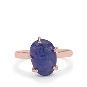 Tanzanite Ring in Rose Gold Plated Sterling Silver 5.50cts