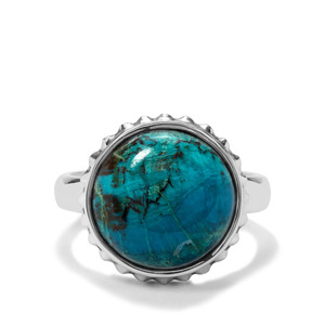8.66ct Chrysocolla Sterling Silver Aryonna Ring