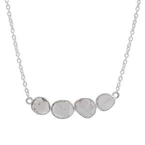 1/3ct Polki Diamond Sterling Silver Necklace