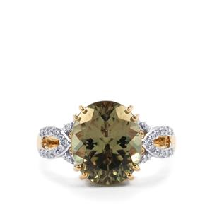 Csarite® Ring with Diamond in 18K Gold 6.30cts