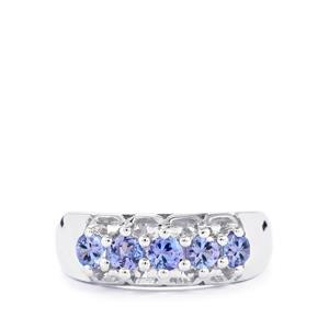 0.60ct Tanzanite Sterling Silver Ring