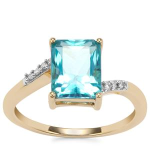 Batalha Topaz Ring with Diamond in 10k Gold 2.73cts