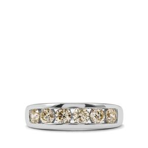 Natural Yellow Diamond Ring in 18K White Gold 1.05ct