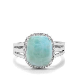 3.27ct Larimar Sterling Silver Ring