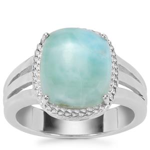 Larimar Ring in Sterling Silver 3.27cts