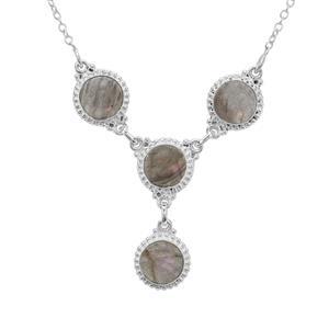 16.50ct Labradorite Sterling Silver Aryonna Necklace