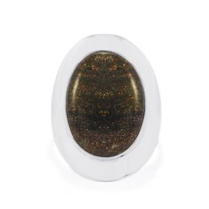 10ct Andamooka Opal Sterling Silver Aryonna Ring