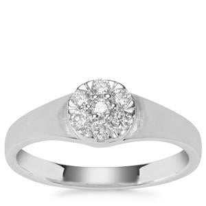 Diamond Ring in Platinum 950 0.26ct