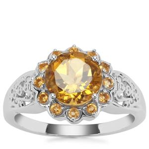 Xia Heliodor Ring with Diamantina Citrine in Sterling Silver 1.88cts