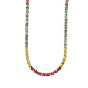 40.22ct Rainbow Sapphire Sterling Silver Necklace