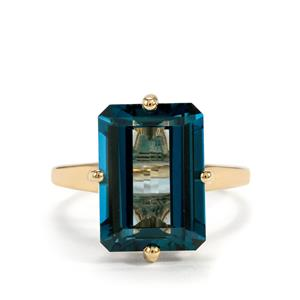 Marambaia London Blue Topaz Ring in 10K Gold 9.66cts