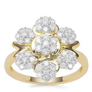 Argyle Diamond Ring in 9K Gold 0.76ct