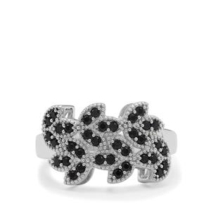 Black Spinel Ring in Sterling Silver 0.70ct
