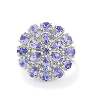 5.48ct Tanzanite Sterling Silver Ring
