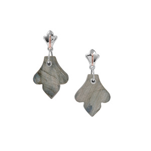 Labradorite Earrings in Two Tone Gold Plated Sterling Silver 19.06cts