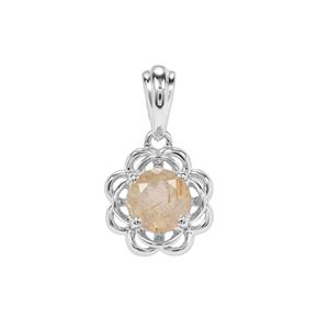 Bahia Rutilite Pendant in Sterling Silver 1.06cts