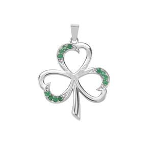 Sakota Emerald Pendant in Sterling Silver 0.72ct