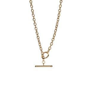 "17"" 9K Gold Altro Belcher T Bar Necklace 5.70g"