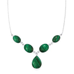 39.79ct Malachite Sterling Silver Aryonna Necklace