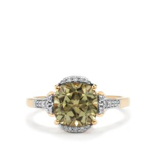 Csarite® Ring with Diamond in 18K Gold 2.80cts