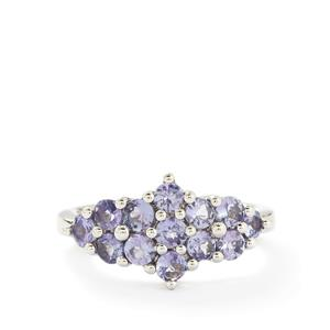 1.56ct Tanzanite Sterling Silver Ring