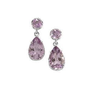 Rose De France Amethyst Earrings in Sterling Silver 10.80cts