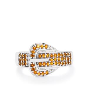 0.41ct Rio Golden Citrine Sterling Silver Ring