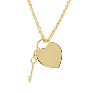 "16"" Midas Altro Key of Heart Necklace 3.82g"