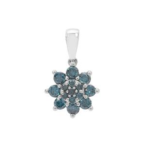 Blue Diamond Pendant in 9K White Gold 0.50ct