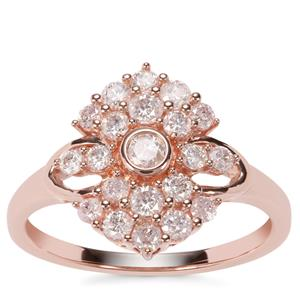 Natural Pink Diamond Ring in 9k Rose Gold 0.75ct