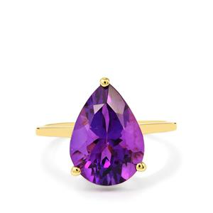 4.82ct Zambian Amethyst 10K Gold Ring