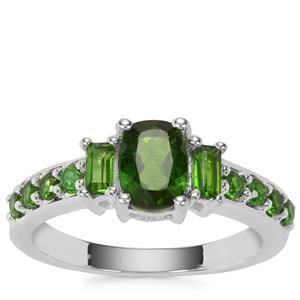 Chrome Diopside Ring in Sterling Silver 1.56cts