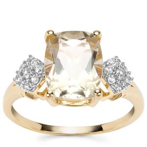 Serenite Ring with White Zircon in 9K Gold 2.94cts