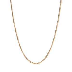 """18"""" Gold Plated Sterling Silver Classico Curb Slider Chain 2.10g"""