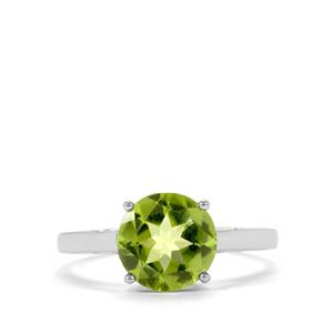 Changbai Peridot Ring in 10k White Gold 2.45cts