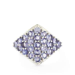 3.00ct AA Tanzanite Sterling Silver Ring