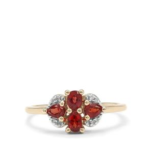Winza Ruby Ring with Diamond in 9K Gold 0.85ct